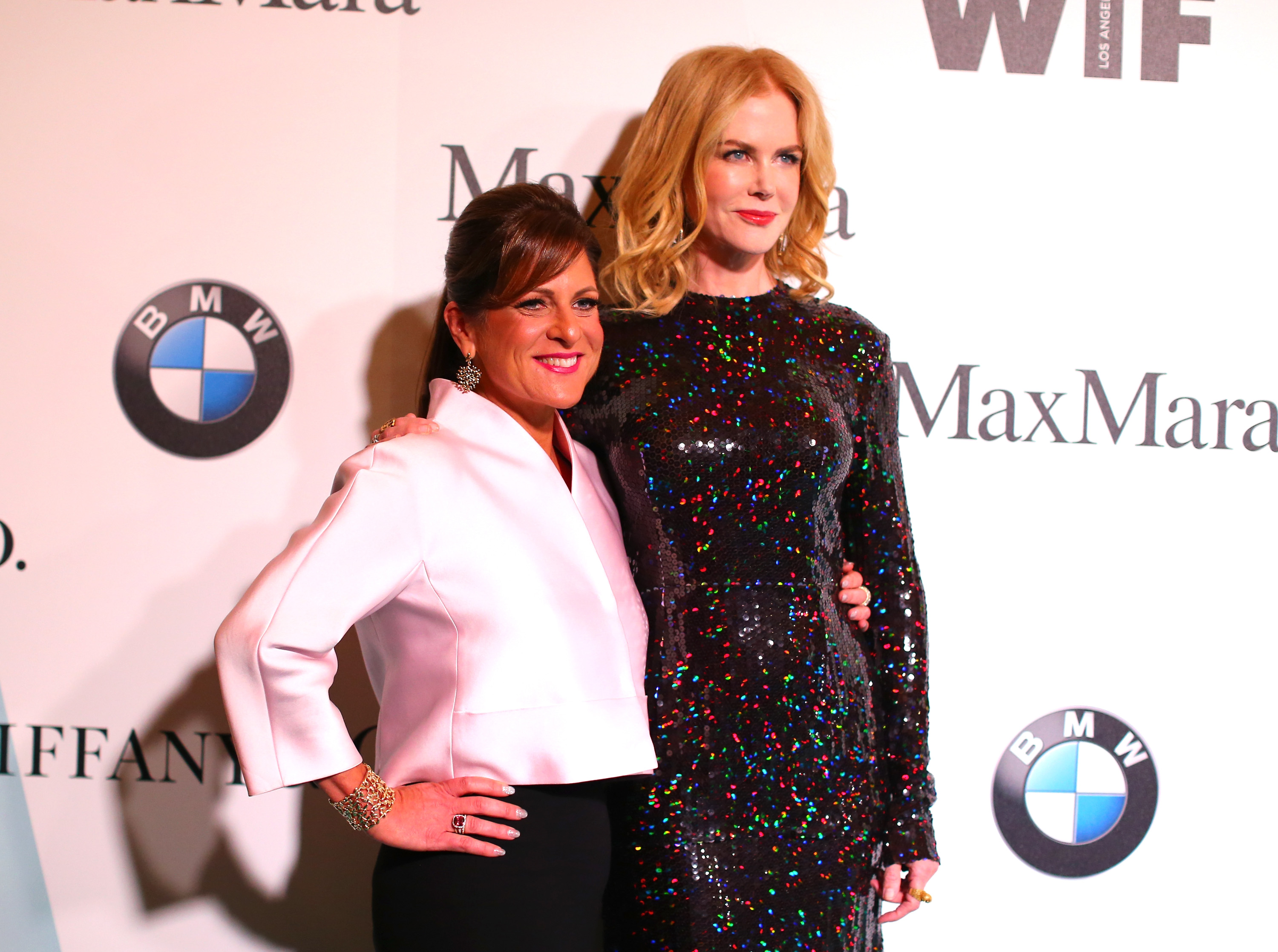 CENTURY CITY, CA - JUNE 16:  President, Women In Film, Cathy Schulman (L) and honoree Nicole Kidman attend the Women In Film 2015 Crystal + Lucy Awards Presented by Max Mara, BMW of North America, and Tiffany & Co. at the Hyatt Regency Century Plaza on June 16, 2015 in Century City, California.  (Photo by Mark Davis/Getty Images for Women in Film)