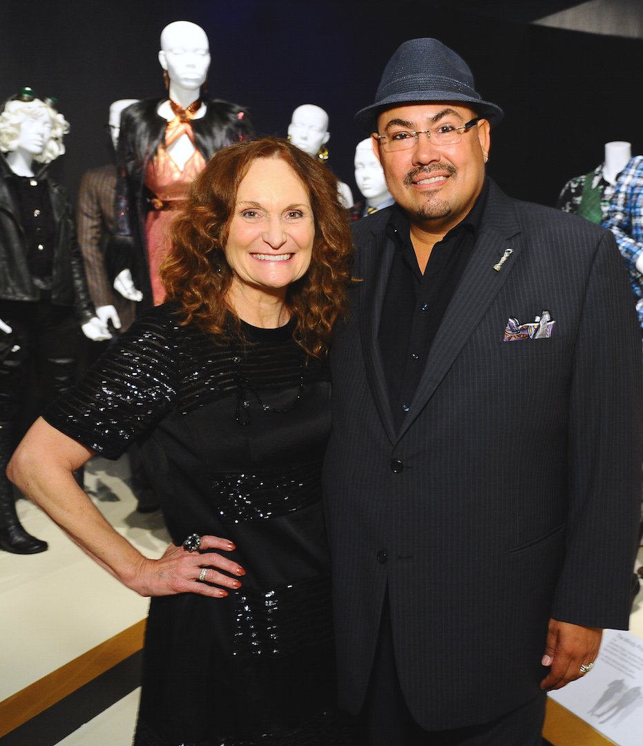"Beth Grant, left, and Salvador Perez, costume designer of ""The Mindy Project"" seen at The 9th Annual Outstanding Art of Television Costume Design Exhibition opening at the FIDM Museum & Galleries on the Park on Saturday, July 18, 2015, in Los Angeles. The Television Academy and FIDM Museum honored this year's Emmy(R) Award winners in Outstanding Costume Design at the opening reception for this annual special exhibition. (Photo by Vince Bucci/Invision for the Television Academy/AP Images)"