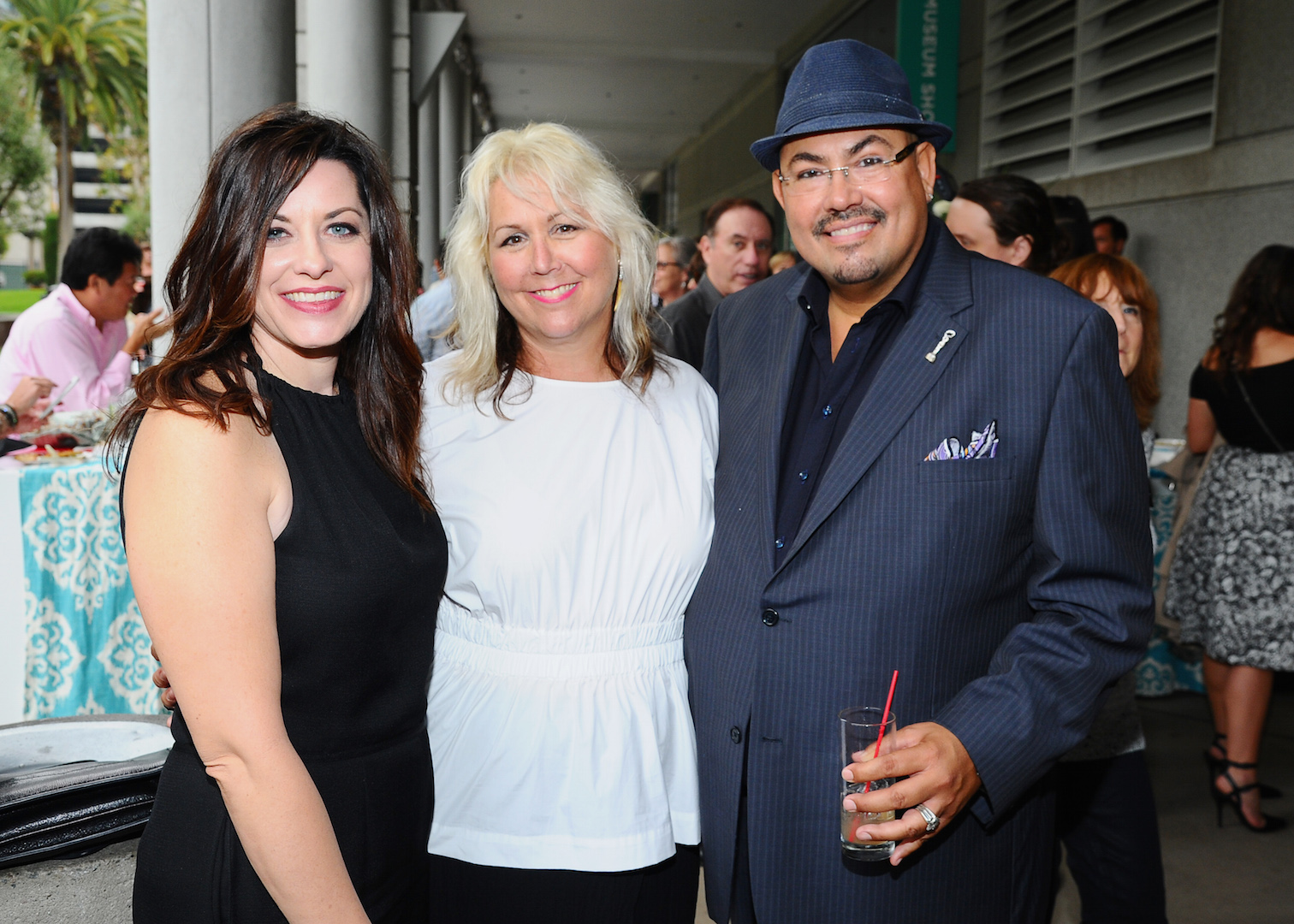"Costume designers Jenny Eagan, of ""Olive Kitteridge"", from left, Lisa Padovani of ""Gotham"" and Salvador Perez of ""The Mindy Project"" seen at The 9th Annual Outstanding Art of Television Costume Design Exhibition opening at the FIDM Museum & Galleries on the Park on Saturday, July 18, 2015, in Los Angeles. The Television Academy and FIDM Museum honored this year's Emmy(R) Award winners in Outstanding Costume Design at the opening reception for this annual special exhibition. (Photo by Vince Bucci/Invision for the Television Academy/AP Images)"