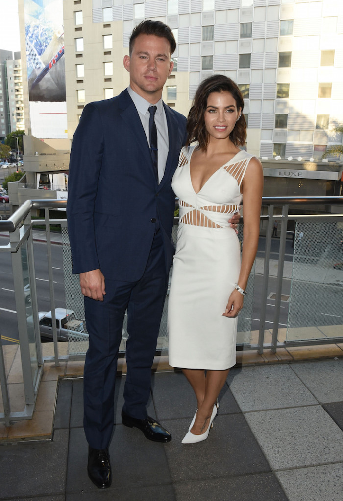 LOS ANGELES, CA - AUGUST 01:  Actor Channing Tatum and his wife actress Jenna Dewan-Tatum attend the 5th Annual Celebration of Dance Gala presented By The Dizzy Feet Foundation at Club Nokia on August 1, 2015 in Los Angeles, California.  (Photo by Angela Weiss/Getty Images for Dizzy Feet Foundation)