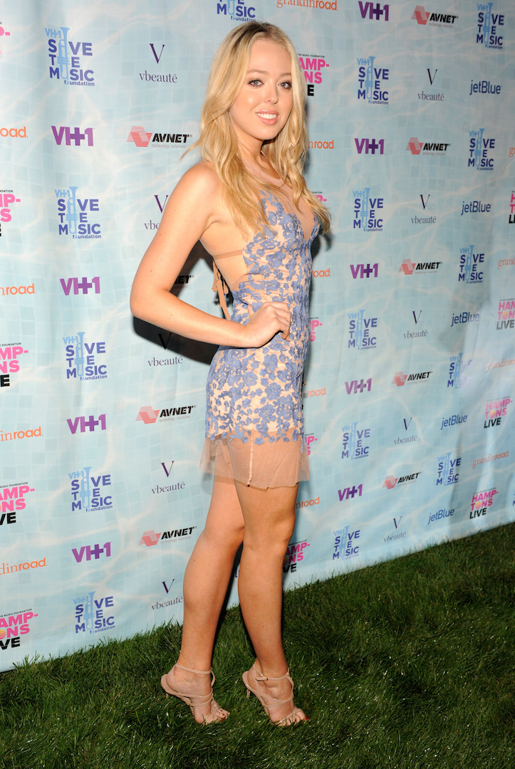 """SAGAPONACK, NY - AUGUST 08:  Tiffany Trump at VH1 Save The Music Foundation's """"Hamptons Live"""" benefit hosted by Billy and Julie Macklowe at a private estate in Sagaponack, NY on August 8, 2015.  (Photo by Matthew Eisman/Getty Images for Vh1 Save The Music)"""