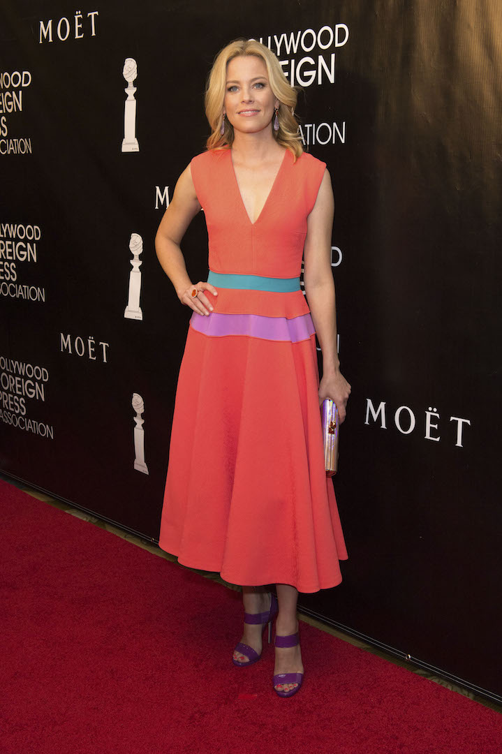 Beverly Hills, CA. August 13, 2015 Hollywood Foreign Press Association presents annual Grants Dinner Thursday night from the Beverly Wilshire Hotel.  The HFPA will present more than $2 million in donations to non-profit entertainment-related organizations and scholarship programs.  Pictured: Elizabeth Banks arrives on the red carpet.