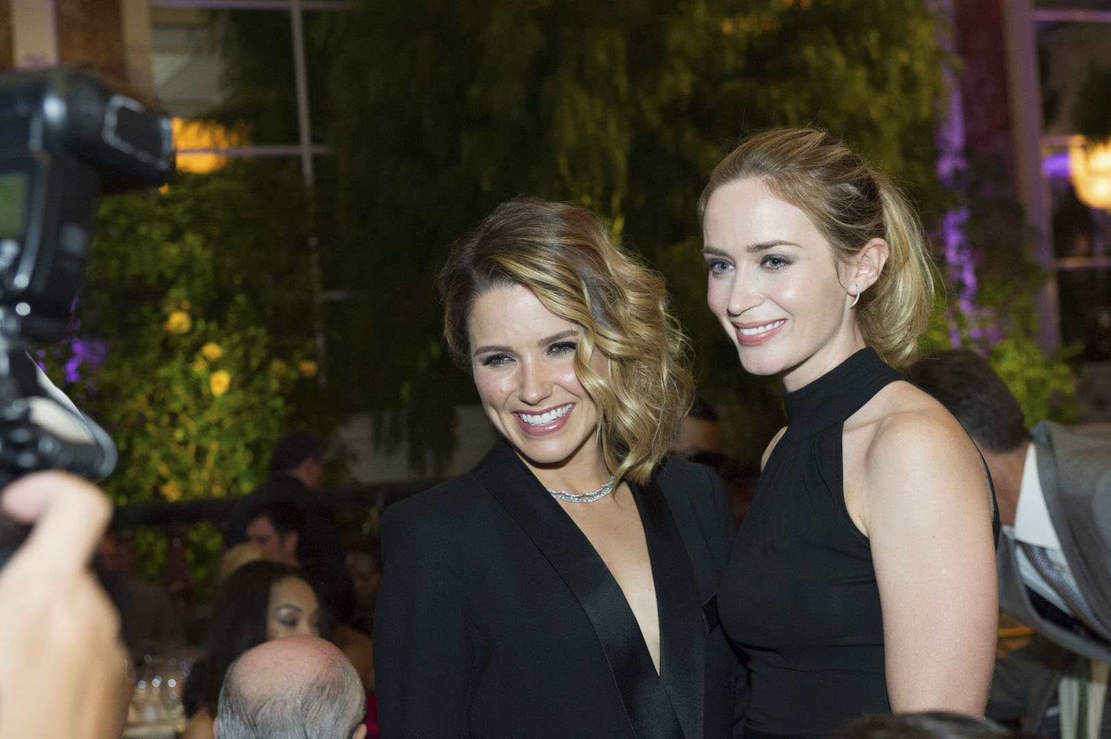 Beverly Hills, CA. August 13, 2015 Hollywood Foreign Press Association presents annual Grants Dinner Thursday night from the Beverly Wilshire Hotel.  The HFPA will present more than $2 million in donations to non-profit entertainment-related organizations and scholarship programs.  Pictured: Sophia Bush and Emily Blunt.