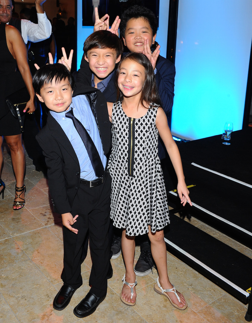 Ian Chen, from left, Forrest Wheeler, Aubrey Anderson-Emmons and Hudson Yang seen at the Television Academy's 67th Emmy Awards Dynamic and Diverse Nominee Reception at the Montage Beverly Hills on Thursday, Aug. 27, 2015, in Beverly Hills, Calif. (Photo by Vince Bucci/Invision for the Television Academy/AP Images)