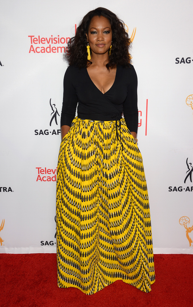 Garcelle Beauvais seen at the Television Academy's 67th Emmy Awards Dynamic and Diverse Nominee Reception at the Montage Beverly Hills on Thursday, Aug. 27, 2015, in Beverly Hills, Calif. (Photo by Phil Mccarten/Invision for the Television Academy/AP Images)