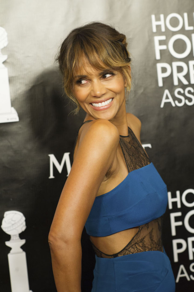 Beverly Hills, CA. August 13, 2015 Hollywood Foreign Press Association presents annual Grants Dinner Thursday night from the Beverly Wilshire Hotel. The HFPA will present more than $2 million in donations to non-profit entertainment-related organizations and scholarship programs. Pictured: Halle Berry arrives on the red carpet.