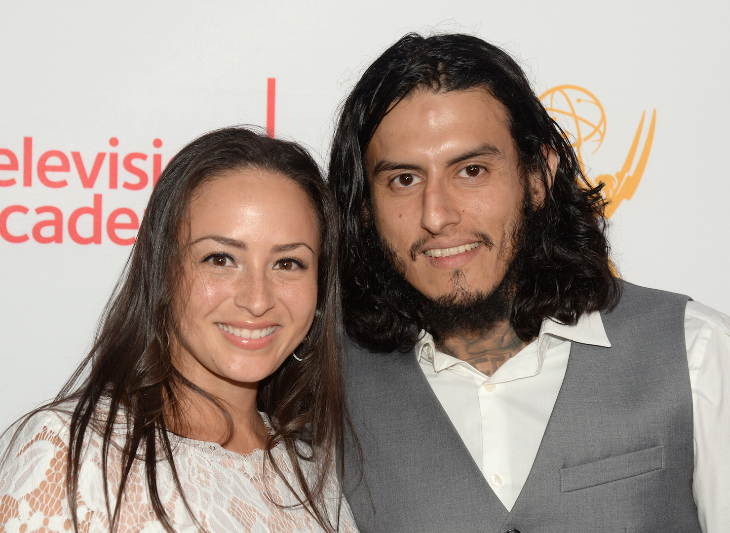 Janiece Sarduy, left, and Richard Cabral seen at the Television Academy's 67th Emmy Awards Dynamic and Diverse Nominee Reception at the Montage Beverly Hills on Thursday, Aug. 27, 2015, in Beverly Hills, Calif. (Photo by Phil Mccarten/Invision for the Television Academy/AP Images)