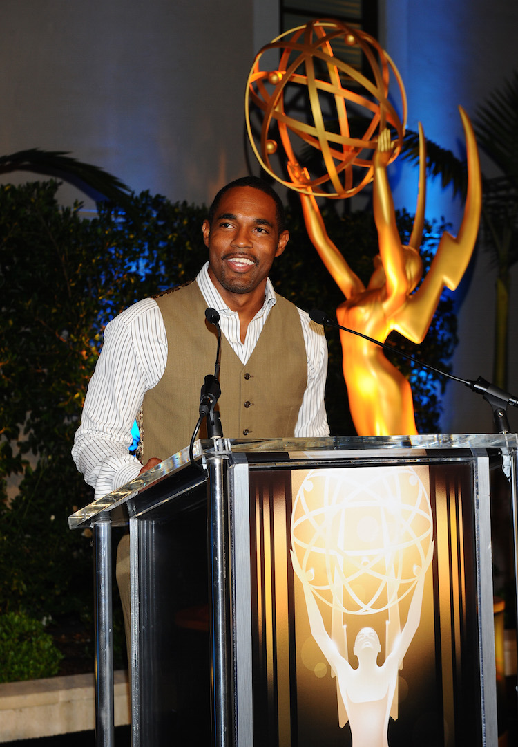 Jason George speaks at the Television Academy's 67th Emmy Awards Dynamic and Diverse Nominee Reception at the Montage Beverly Hills on Thursday, Aug. 27, 2015, in Beverly Hills, Calif. (Photo by Vince Bucci/Invision for the Television Academy/AP Images)