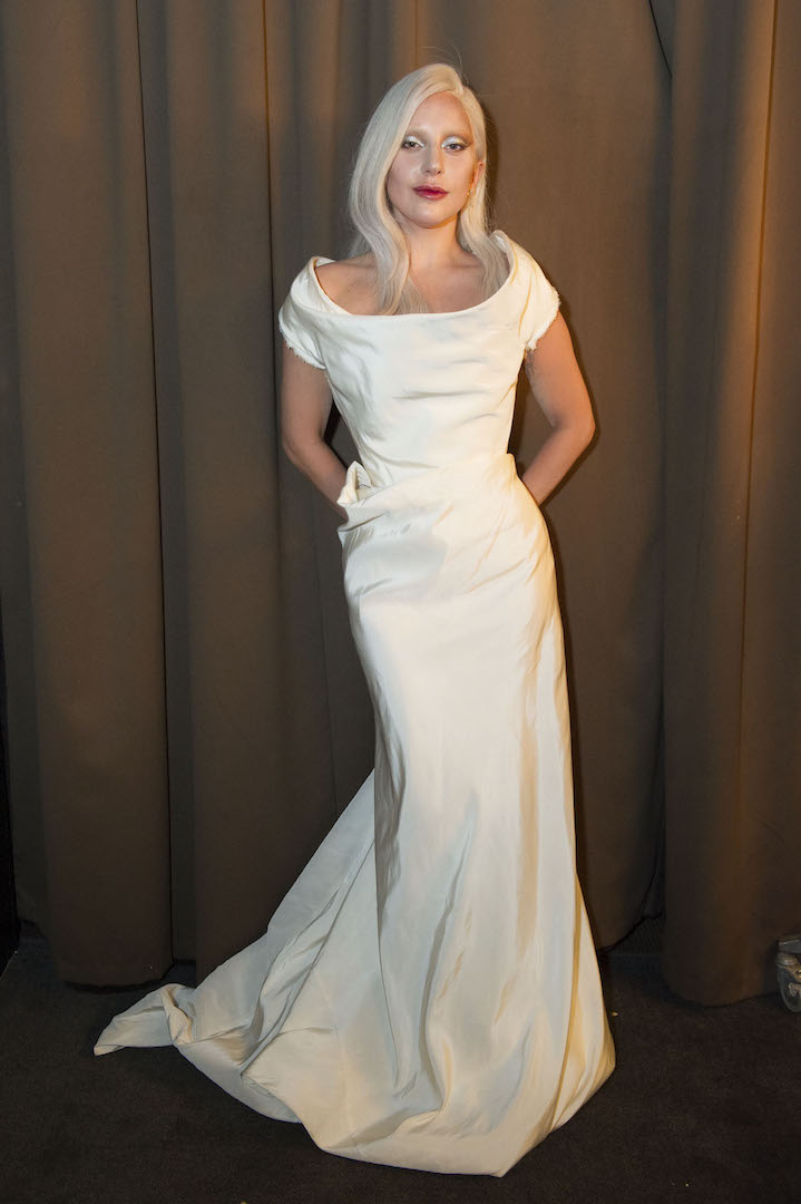 Beverly Hills, CA. August 13, 2015 Hollywood Foreign Press Association presents annual Grants Dinner Thursday night from the Beverly Wilshire Hotel.  The HFPA will present more than $2 million in donations to non-profit entertainment-related organizations and scholarship programs.  Pictured: Lady Gaga accepts for the Music Center / Young Musicians Foundation.