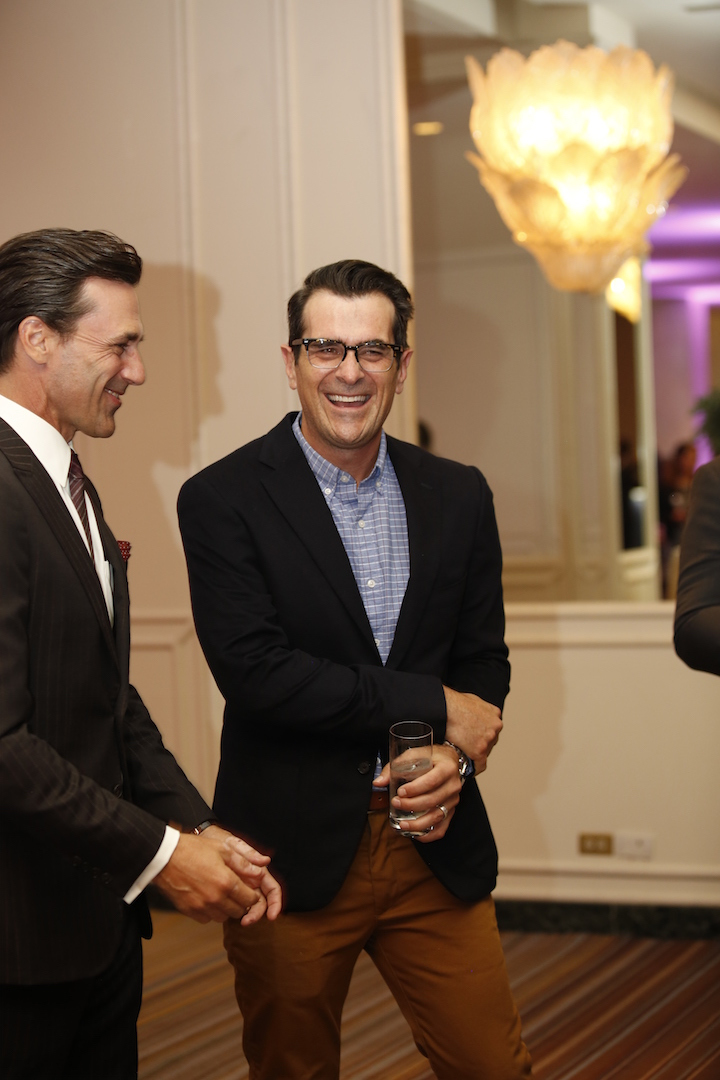Beverly Hills, CA. August 13, 2015 Hollywood Foreign Press Association presents annual Grants Dinner Thursday night from the Beverly Wilshire Hotel.  The HFPA will present more than $2 million in donations to non-profit entertainment-related organizations and scholarship programs.  Pictured: Jon Hamm and Ty Burrell.
