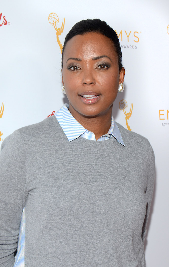 Aisha Tyler arrives at the Television Academy's 67th Emmy IMPG Celebration of Excellence at the Montage Beverly Hills on Wednesday, Sept. 9, 2015 in Beverly Hills, Calif. (Photo by Tonya Wise/Invision for the Television Academy/AP Images)