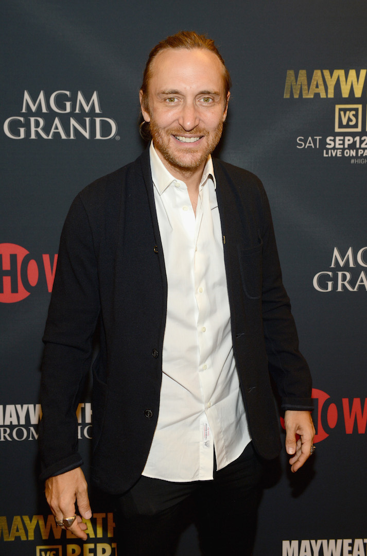 LAS VEGAS, NV - SEPTEMBER 12:  DJ/producer David Guetta attends the VIP Pre-Fight Party for 'High Stakes: Mayweather v. Berto' presented by Showtime at the MGM Grand Garden Arena on September 12, 2015 in Las Vegas, Nevada.  (Photo by Denise Truscello/Getty Images for Showtime) *** Local Caption *** David Guetta