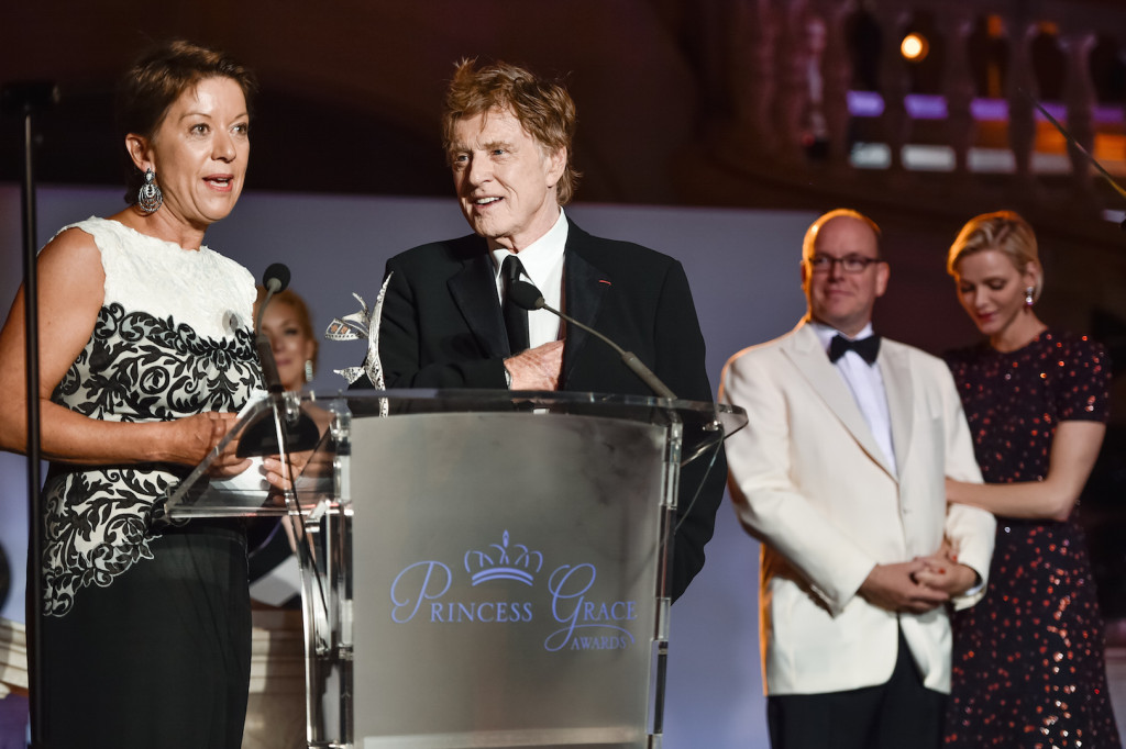 MONTE-CARLO, MONACO - SEPTEMBER 05: His Serene Highness Prince Albert II of Monaco, Her Serene Highness Princess Charlene of Monaco, 2015 Princess Grace Awards Gala Honorees Robert Redford and Sibylle Szaggars Redford attend the 2015 Princess Grace Awards Gala With Presenting Sponsor Christian Dior Couture at Monaco Palace on September 5, 2015 in Monte-Carlo, Monaco. (Photo by Pascal Le Segretain/Getty Images for Princess Grace Foundation-USA)