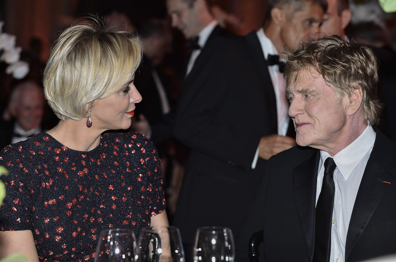 MONTE-CARLO, MONACO - SEPTEMBER 05:  (L-R) Her Serene Highness Princess Charlene of Monaco and 2015 Princess Grace Awards Gala Honoree Robert Redford attend the 2015 Princess Grace Awards Gala With Presenting Sponsor Christian Dior Couture at Monaco Palace on September 5, 2015 in Monte-Carlo, Monaco.  (Photo by Pascal Le Segretain/Getty Images for Princess Grace Foundation-USA)