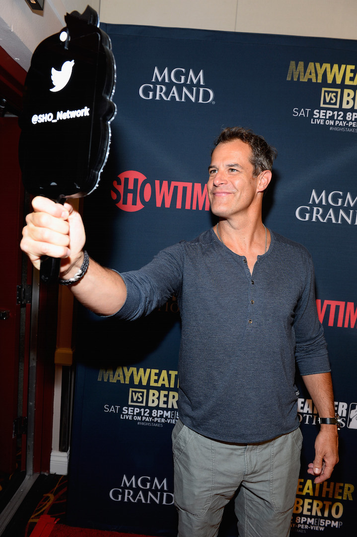 LAS VEGAS, NV - SEPTEMBER 12:  Actor Josh Stamberg poses for a selfie as he arrives at the VIP Pre-Fight Party for 'High Stakes: Mayweather v. Berto' presented by Showtime at the MGM Grand Garden Arena on September 12, 2015 in Las Vegas, Nevada.  (Photo by Bryan Steffy/Getty Images for Showtime) *** Local Caption *** Josh Stamberg