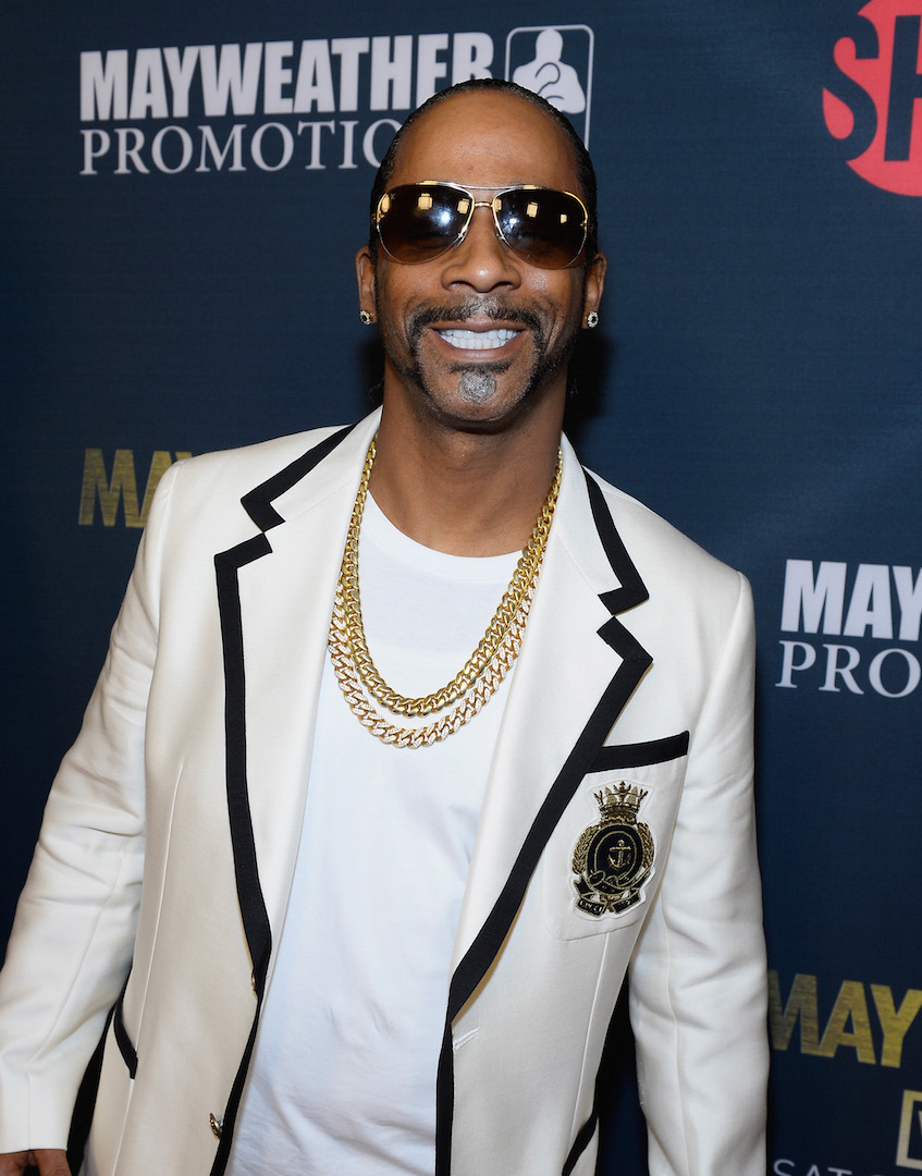 LAS VEGAS, NV - SEPTEMBER 12:  Comedian Katt Williams arrives at the VIP Pre-Fight Party for 'High Stakes: Mayweather v. Berto' presented by Showtime at the MGM Grand Garden Arena on September 12, 2015 in Las Vegas, Nevada.  (Photo by Bryan Steffy/Getty Images for Showtime) *** Local Caption *** Katt Williams
