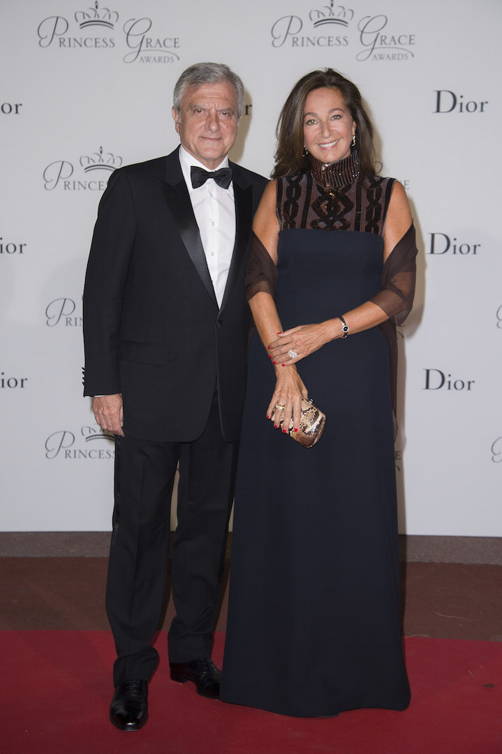 MONTE-CARLO, MONACO - SEPTEMBER 05:  President and CEO Christian Dior Couture Sidney Toledano and Katia Toledano attend the 2015 Princess Grace Awards Gala With Presenting Sponsor Christian Dior Couture at Monaco Palace on September 5, 2015 in Monte-Carlo, Monaco.  (Photo by Pascal Le Segretain/Getty Images for Princess Grace Foundation-USA)