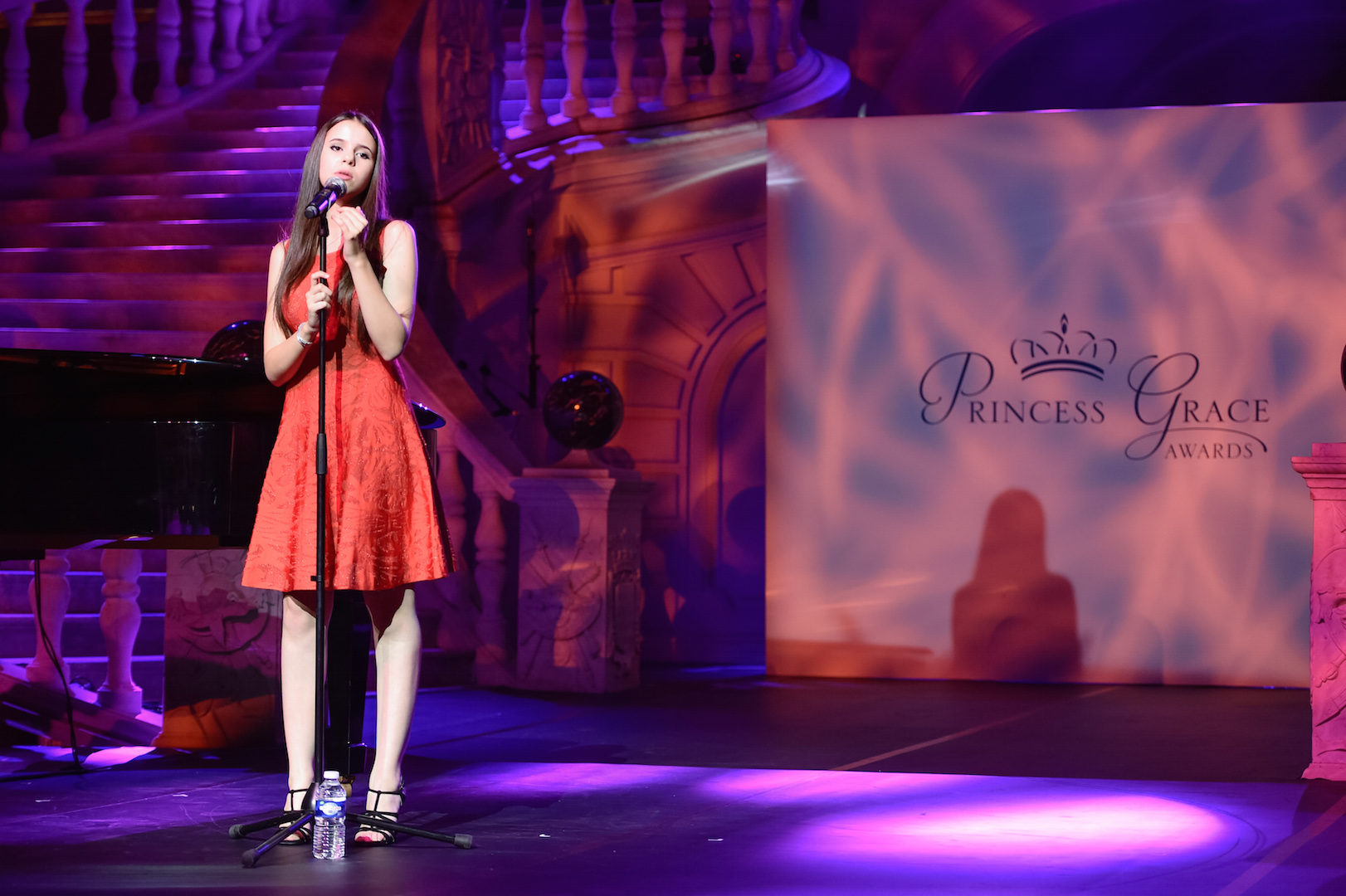 MONTE-CARLO, MONACO - SEPTEMBER 05:  Singer Marina Kaye performs during the 2015 Princess Grace Awards Gala With Presenting Sponsor Christian Dior Couture at Monaco Palace on September 5, 2015 in Monte-Carlo, Monaco.  (Photo by Pascal Le Segretain/Getty Images for Princess Grace Foundation-USA)