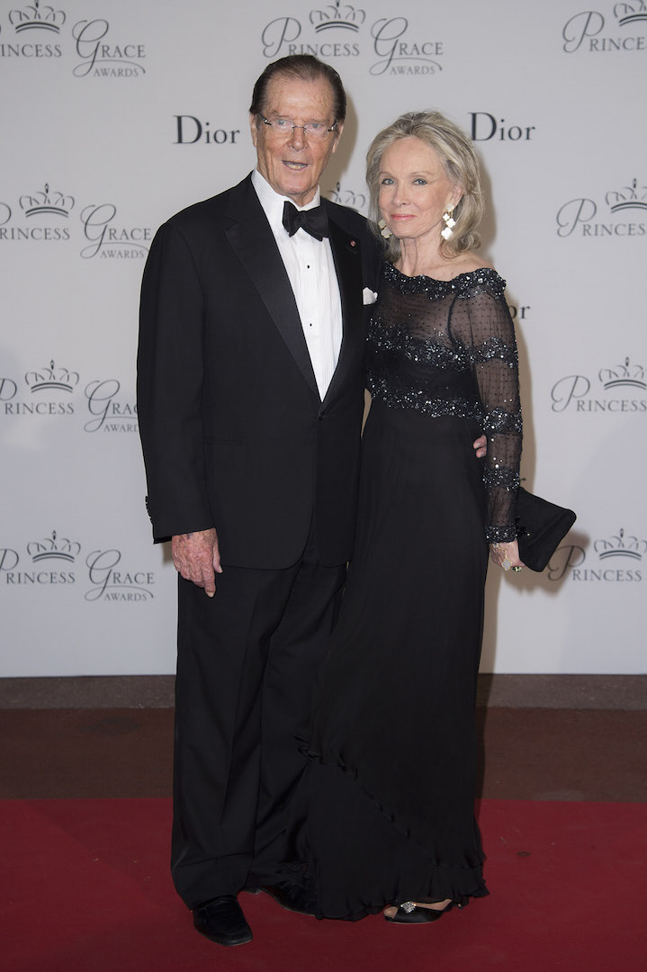 MONTE-CARLO, MONACO - SEPTEMBER 05:  Sir Roger Moore and Kristina Tholstrup attend the 2015 Princess Grace Awards Gala With Presenting Sponsor Christian Dior Couture at Monaco Palace on September 5, 2015 in Monte-Carlo, Monaco.  (Photo by Pascal Le Segretain/Getty Images for Princess Grace Foundation-USA)