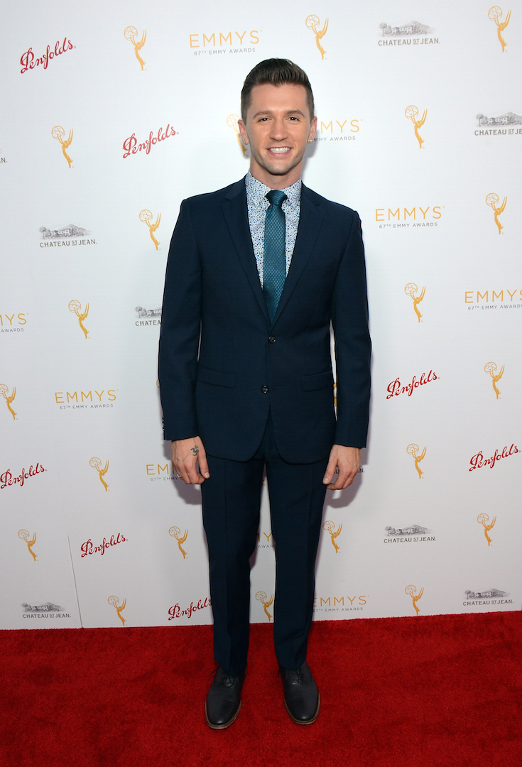 Travis Wall arrives at the Television Academy's 67th Primetime Emmy Choreographers Nominee Reception at the Montage Beverly Hills on Sunday, Aug. 30, 2015 in Beverly Hills, Calif. (Photo by Tonya Wise/Invision for the Television Academy/AP Images)
