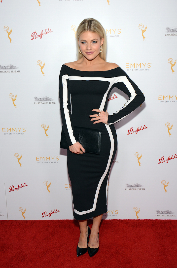 Witney Carson arrives at the Television Academy's 67th Primetime Emmy Choreographers Nominee Reception at the Montage Beverly Hills on Sunday, Aug. 30, 2015 in Beverly Hills, Calif. (Photo by Tonya Wise/Invision for the Television Academy/AP Images)
