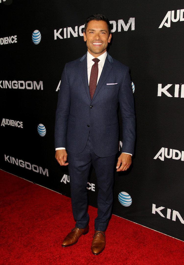 WEST HOLLYWOOD, CA - OCTOBER 06:  Actor Mark Consuelos celebrates the season premiere of DIRECTV's KINGDOM on October 6, 2015 in West Hollywood, California.  (Photo by Rachel Murray/Getty Images for DIRECTV)
