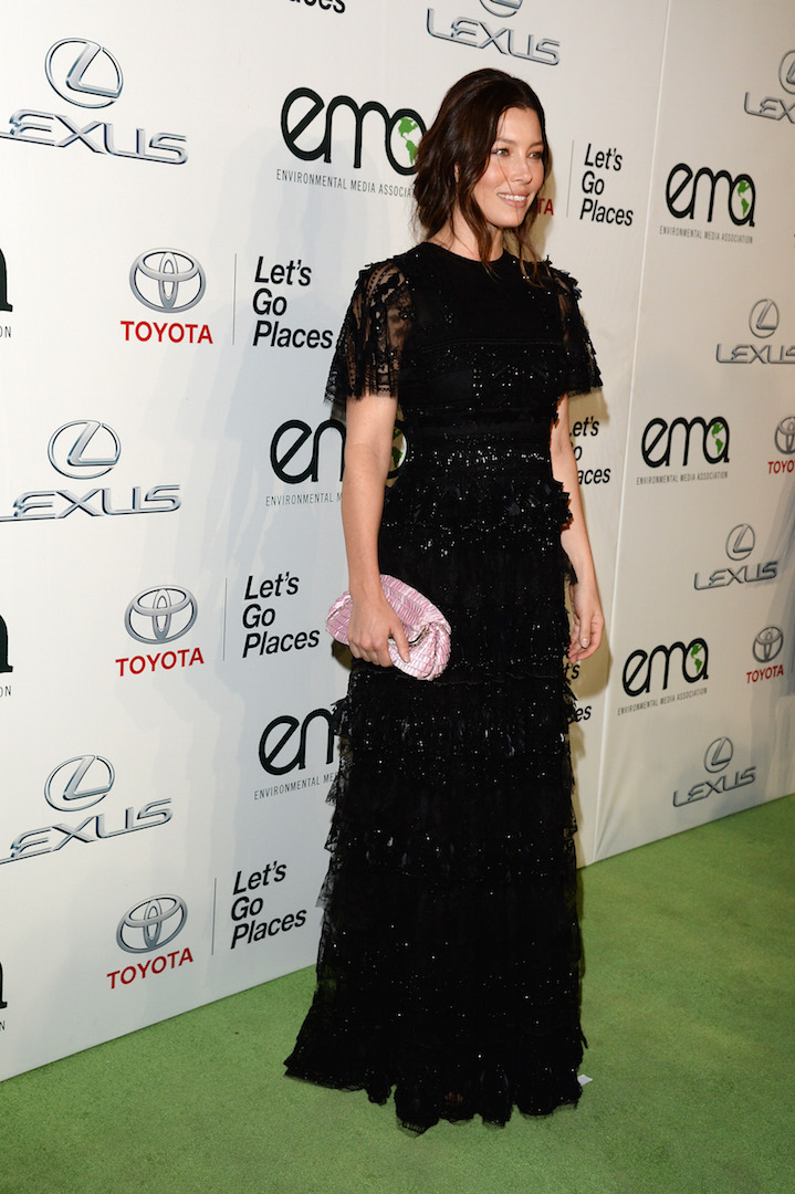 BURBANK, CA - OCTOBER 24:  Actress Jessica Biel attends the 25th annual EMA Awards presented by Toyota and Lexus and hosted by the Environmental Media Association at Warner Bros. Studios on October 24, 2015 in Burbank, California.  (Photo by Lester Cohen/Getty Images for Environmental Media Awards)