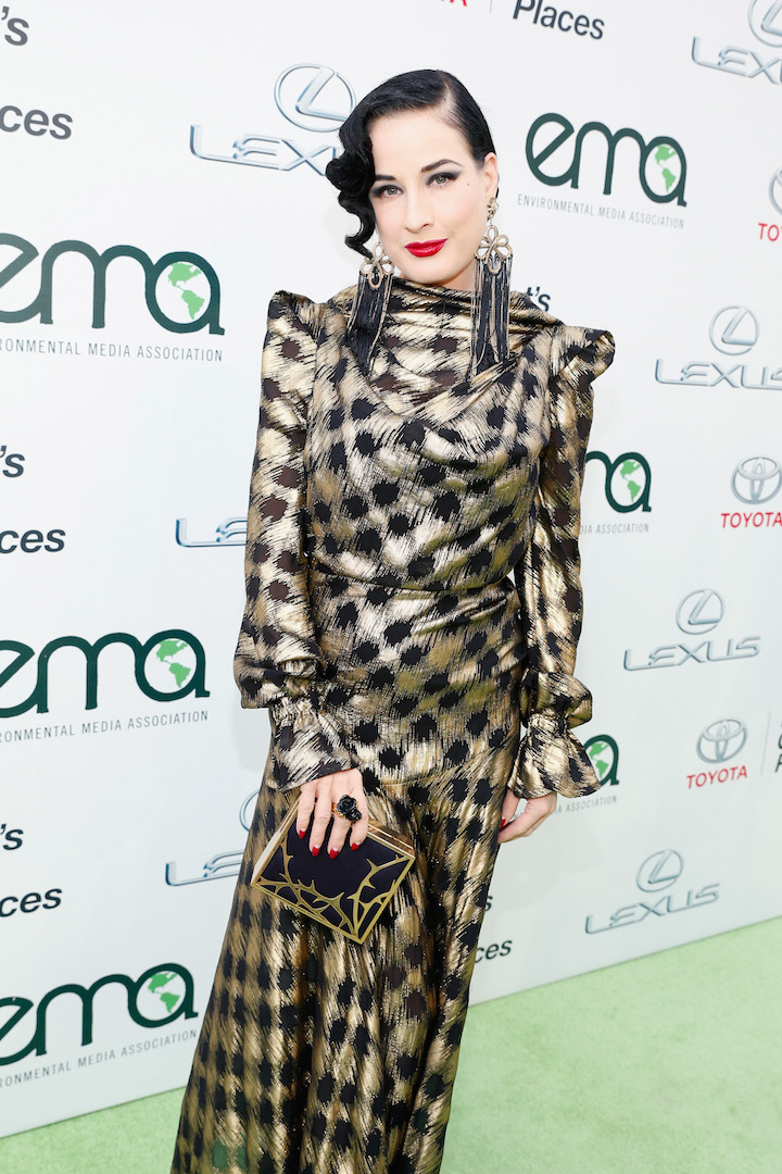 BURBANK, CA - OCTOBER 24:  Actress Dita Von Teese attends the 25th annual EMA Awards presented by Toyota and Lexus and hosted by the Environmental Media Association at Warner Bros. Studios on October 24, 2015 in Burbank, California.  (Photo by Rich Polk/Getty Images for Environmental Media Awards)
