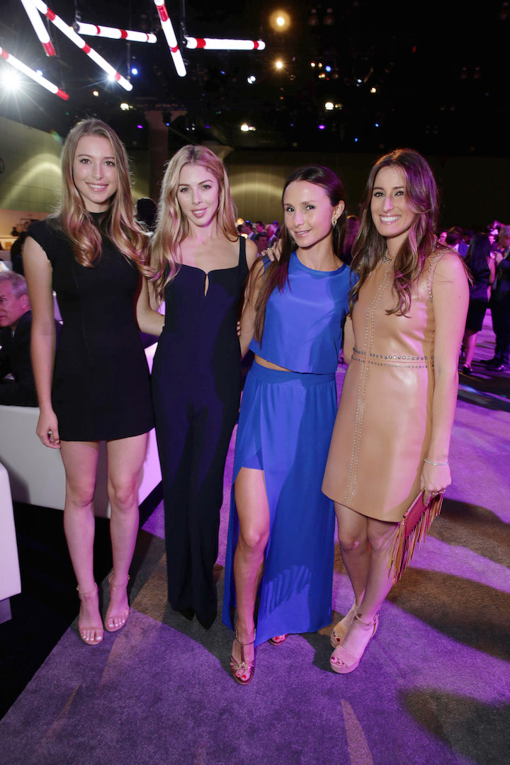 Mandatory Credit: Photo by Eric Charbonneau/REX Shutterstock (2864922v) Eve Jobs, Hannah Margaret Selleck, Georgina Bloomberg and Jessica Springsteen Longines Masters Gala, Los Angeles, America - 01 Oct 2015
