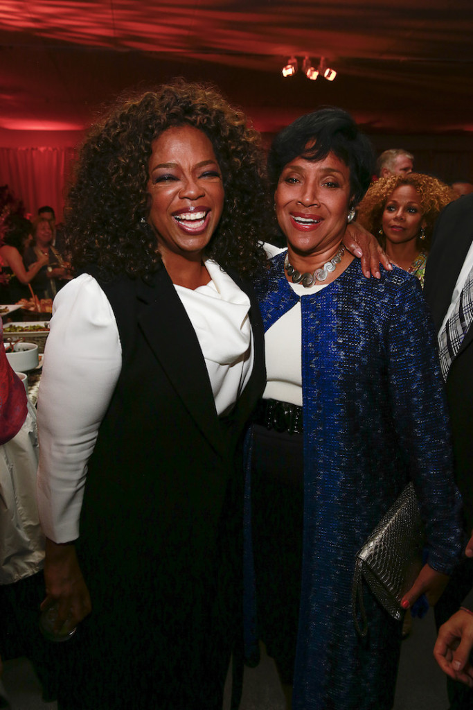 "Oprah Winfrey and Phylicia Rashad attend the after party for the OWN: Oprah Winfrey Network premiere of the landmark seven-night television event ""Belief"" at The TimesCenter on Wednesday, October 14, 2015 in New York. (Mark VonHolden/ AP Images for Discovery Communications)"