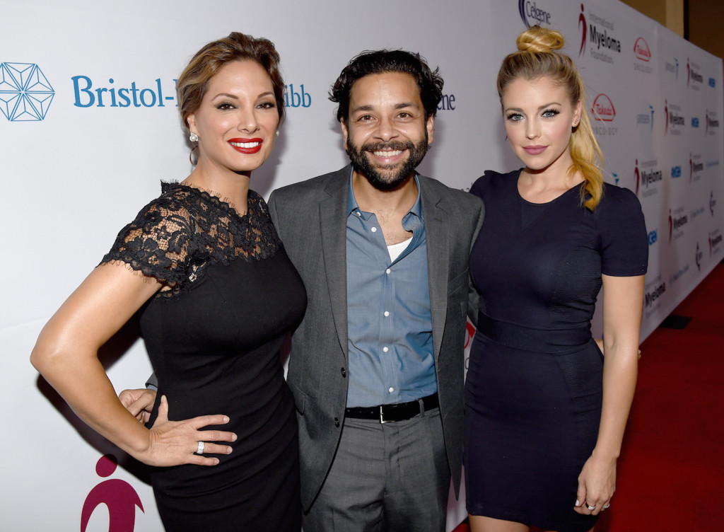 Actors Alex Meneses, Izzy Diaz, and Jadyn Douglas attend the 9th Annual Comedy Celebration, presented by the International Myeloma Foundation, at The Wilshire Ebell Theatre on October 10, 2015 in Los Angeles, California. (Photo by Kevin Winter/Getty Images for International Myeloma Foundation)