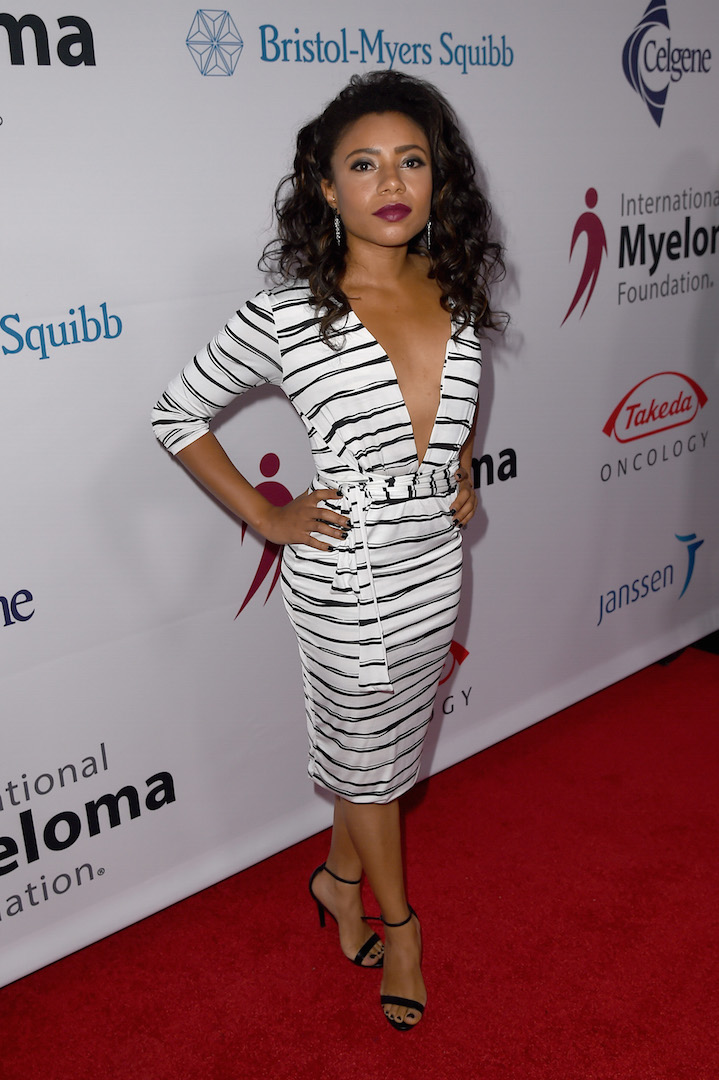 LOS ANGELES, CA - OCTOBER 10:  Actress Shalita Grant attends the 9th Annual Comedy Celebration, presented by the International Myeloma Foundation, at The Wilshire Ebell Theatre on October 10, 2015 in Los Angeles, California.  (Photo by Kevin Winter/Getty Images for International Myeloma Foundation)