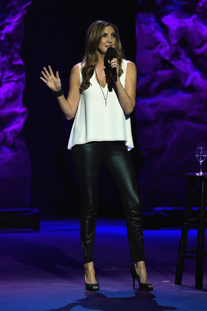 LOS ANGELES, CA - OCTOBER 10:  Comedian Heather McDonald performs onstage during the 9th Annual Comedy Celebration, presented by the International Myeloma Foundation, at The Wilshire Ebell Theatre on October 10, 2015 in Los Angeles, California.  (Photo by Kevin Winter/Getty Images for International Myeloma Foundation)