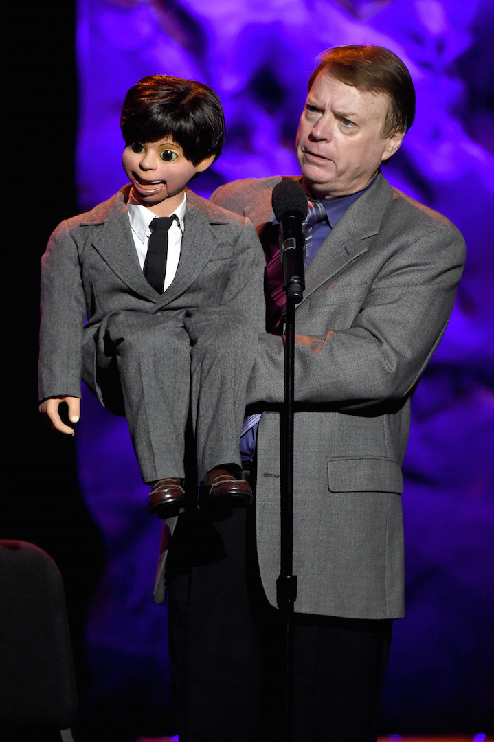 LOS ANGELES, CA - OCTOBER 10:  Ventriloquist Jay Johnson performs onstage during the 9th Annual Comedy Celebration, presented by the International Myeloma Foundation, at The Wilshire Ebell Theatre on October 10, 2015 in Los Angeles, California.  (Photo by Kevin Winter/Getty Images for International Myeloma Foundation)