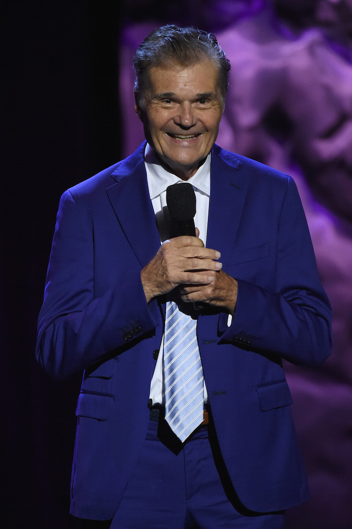 LOS ANGELES, CA - OCTOBER 10:  Host Fred Willard speaks onstage during the 9th Annual Comedy Celebration, presented by the International Myeloma Foundation, at The Wilshire Ebell Theatre on October 10, 2015 in Los Angeles, California.  (Photo by Kevin Winter/Getty Images for International Myeloma Foundation)