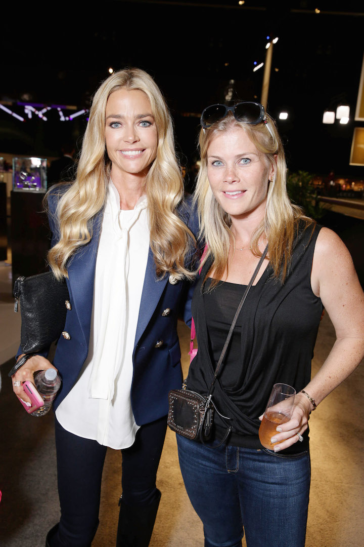 Mandatory Credit: Photo by Eric Charbonneau/REX Shutterstock (2865324ab) Denise Richards and Alison Sweeney Longines Masters, Day 3, Los Angeles, America - 03 Oct 2015