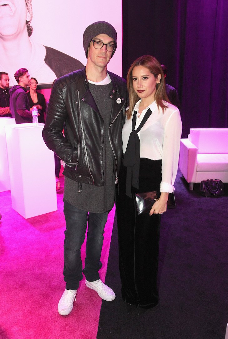 LOS ANGELES, CA - NOVEMBER 10:  Musician Christopher French and actress Ashley Tisdale attend T-Mobile Un-carrier X Launch Celebration at The Shrine Auditorium on November 10, 2015 in Los Angeles, California.  (Photo by Tommaso Boddi/Getty Images for T-Mobile)