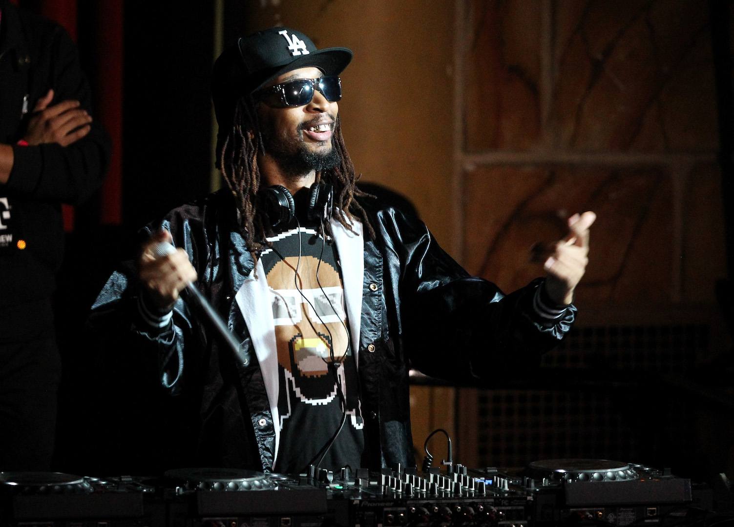 LOS ANGELES, CA - NOVEMBER 10:  Hip-hop artist Lil Jon performs at T-Mobile Un-carrier X Launch Celebration at The Shrine Auditorium on November 10, 2015 in Los Angeles, California.  (Photo by Tommaso Boddi/Getty Images for T-Mobile)