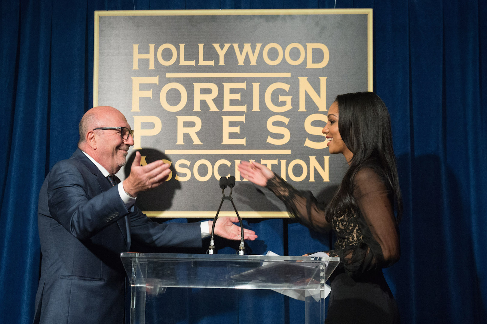 The Hollywood Foreign Press Association has selected Corinne Foxx as Miss Golden Globe 2016 for the 73rd Annual Golden Globe Awards set to air live on NBC on January 10, 2016.President Lorenzo Soria made the announcement on November 17, 2015 from Ysabel Restaurant in West Hollywood.