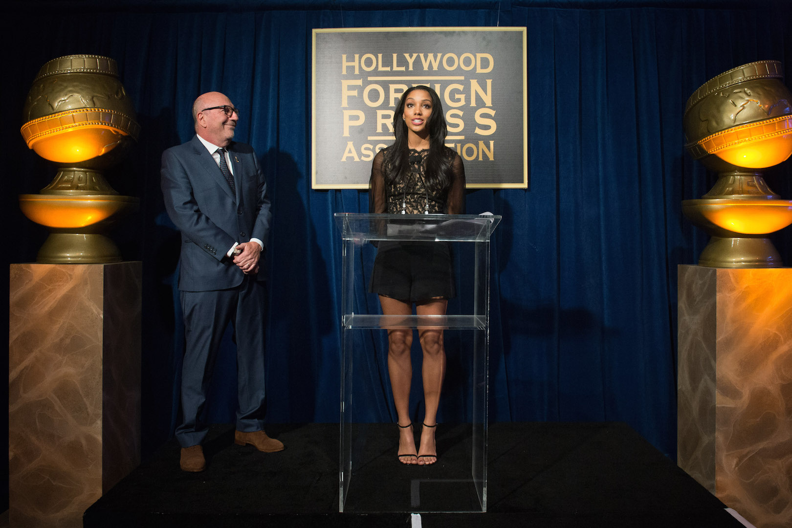 The Hollywood Foreign Press Association has selected Corinne Foxx as Miss Golden Globe 2016 for the 73rd Annual Golden Globe Awards set to air live on NBC on January 10, 2016.