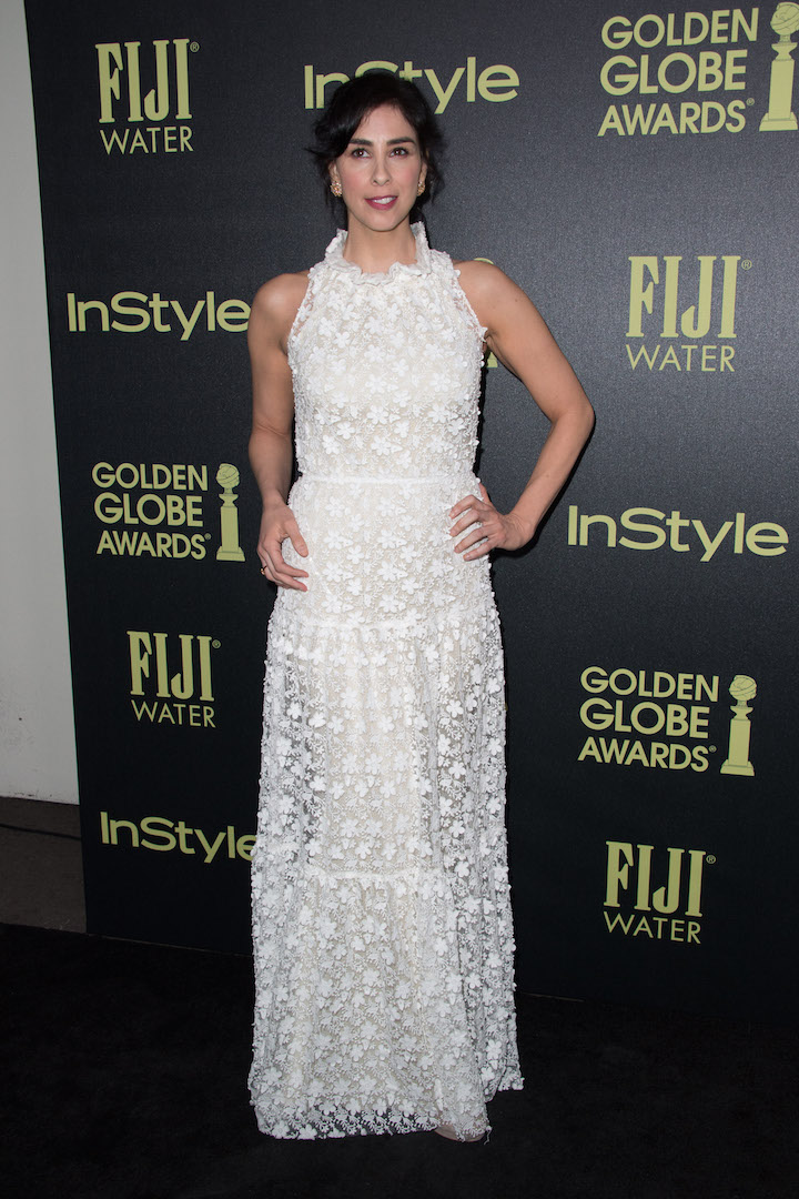 Sarah Silverman attends a party for the announcement of Corinne Foxx as Miss Golden Globe 2016 for the 73rd Annual Golden Globe Awards set to air live on NBC on January 10, 2016.President Lorenzo Soria made the announcement on November 17, 2015 from Ysabel Restaurant in West Hollywood.