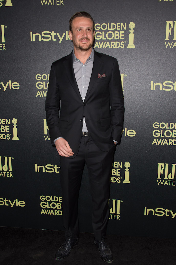 Jason Segel attends a party for the announcement of Corinne Foxx as Miss Golden Globe 2016 for the 73rd Annual Golden Globe Awards set to air live on NBC on January 10, 2016.President Lorenzo Soria made the announcement on November 17, 2015 from Ysabel Restaurant in West Hollywood.