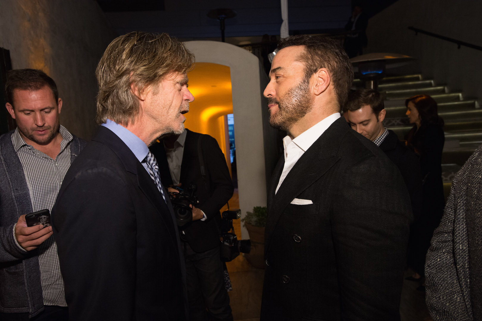 William H. Macy and Jeremy Piven attend a party for the announcement of Corinne Foxx as Miss Golden Globe 2016 for the 73rd Annual Golden Globe Awards set to air live on NBC on January 10, 2016.  President Lorenzo Soria made the announcement on November 17, 2015 from Ysabel Restaurant in West Hollywood.