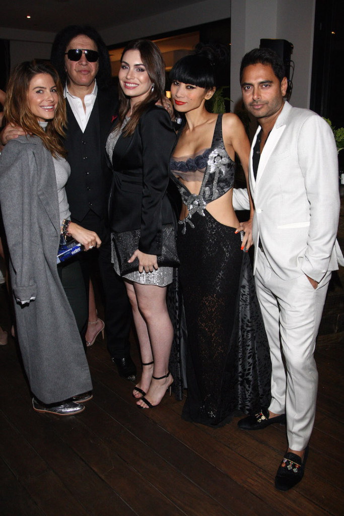 Maria Menounos, Gene Simmons, Sophie Simmons, Bai Ling and Rohan Oza attend the Children Matter.NGO first annual gala on November 7, 2015 in Beverly Hills, California. (Photo by Tommaso Boddi/Getty Images for The Children Matter.NGO)
