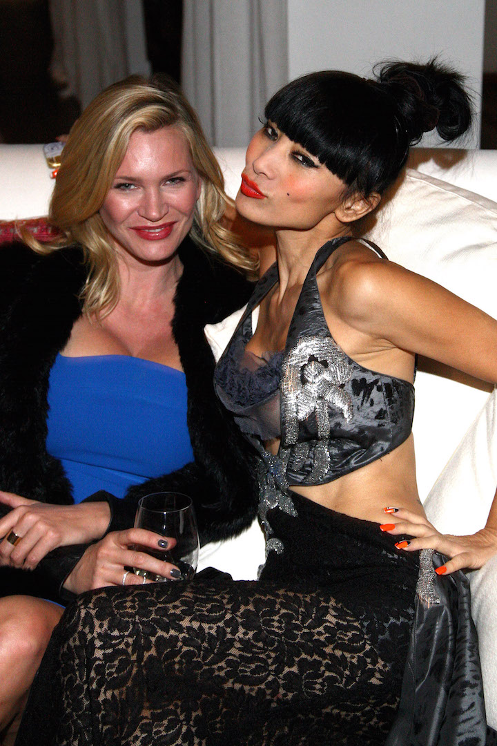 BEVERLY HILLS, CA - NOVEMBER 07:  Actresses Natasha Henstridge and Bai Ling attend the Children Matter.NGO first annual gala on November 7, 2015 in Beverly Hills, California.  (Photo by Tommaso Boddi/Getty Images for The Children Matter.NGO)