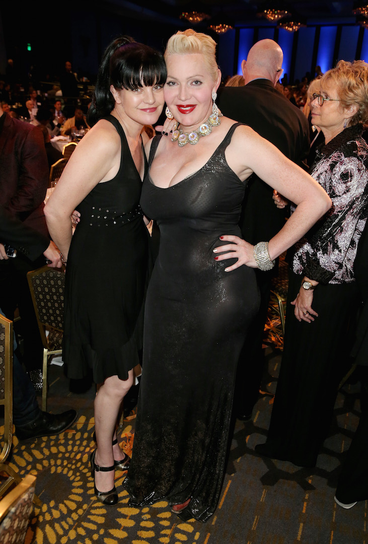 CENTURY CITY, CA - NOVEMBER 07:  Actress Pauley Perrette (L) and author Calpernia Addams attend the Los Angeles LGBT Center 46th Anniversary Gala Vanguard Awards at the Hyatt Regency Century Plaza on November 7, 2015 in Century City, California.  (Photo by Joe Scarnici/Getty Images for Los Angeles LGBT Center)