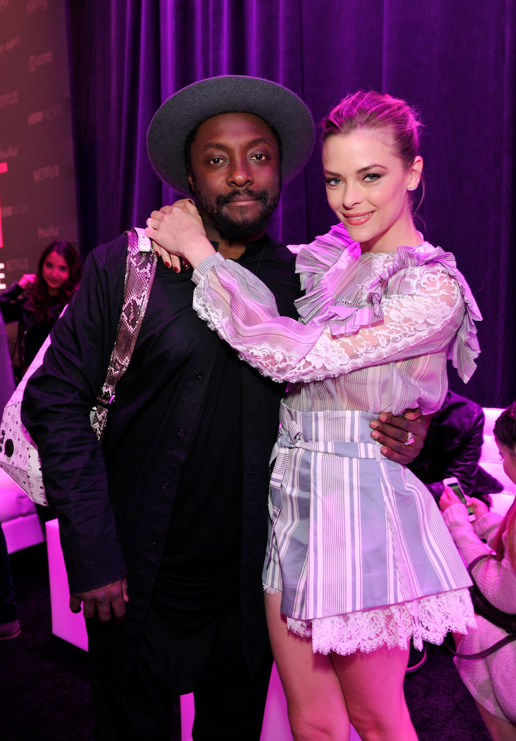 LOS ANGELES, CA - NOVEMBER 10:  Singer-songwriter will.i.am (L) and actress Jamie King attend T-Mobile Un-carrier X Launch Celebration at The Shrine Auditorium on November 10, 2015 in Los Angeles, California.  (Photo by John Sciulli/Getty Images for T-Mobile)