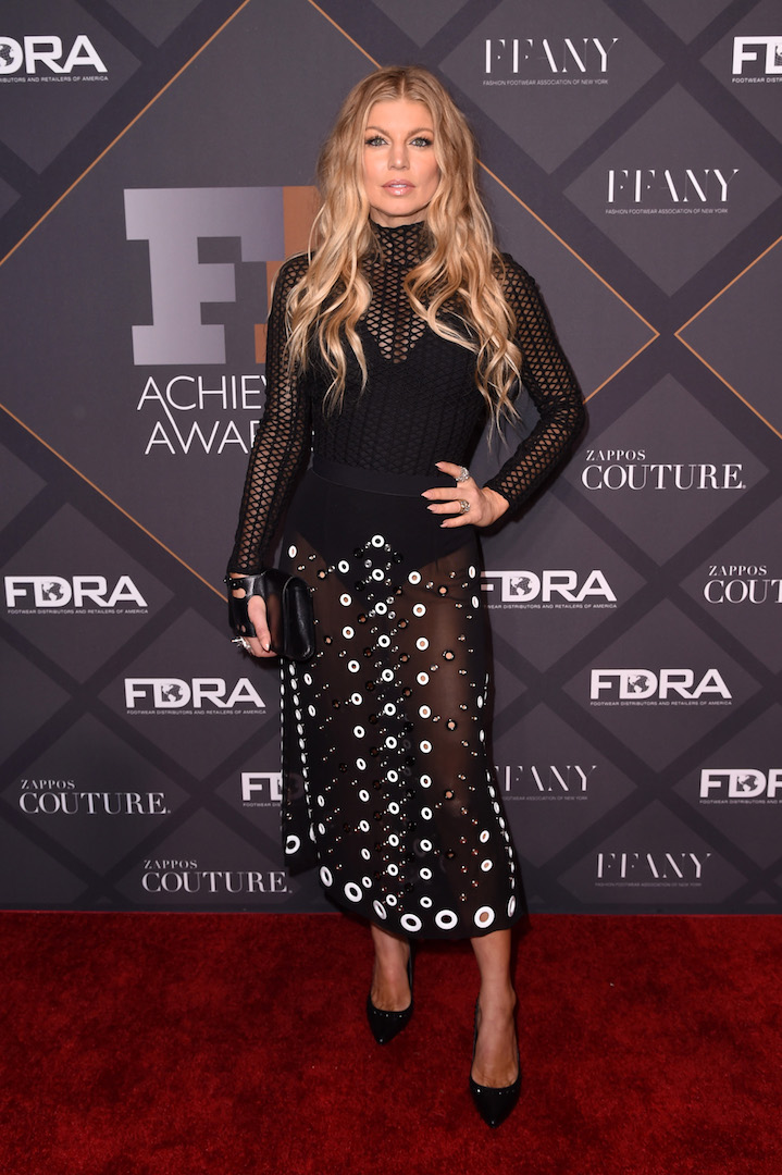 Mandatory Credit: Photo by Stephen Lovekin/Variety/REX Shutterstock (5470209c) Fergie Duhamel Footwear News Achievement Awards, Arrivals, New York, America - 02 Dec 2015