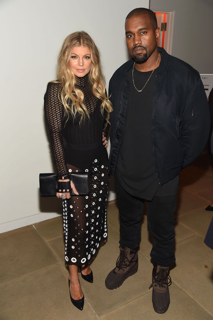 Mandatory Credit: Photo by Stephen Eichner/WWD/REX Shutterstock (5470211i) Fergie Duhamel and Kanye West Footwear News Achievement Awards, Inside, New York, America - 02 Dec 2015
