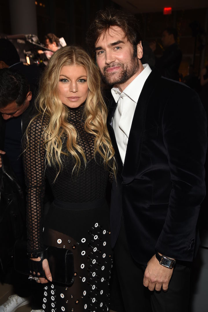 Mandatory Credit: Photo by Stephen Eichner/WWD/REX Shutterstock (5470211t) Michael Atmore and Fergie Duhamel Footwear News Achievement Awards, Inside, New York, America - 02 Dec 2015